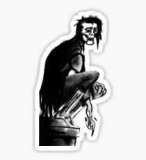 Gothic Gargoyle Perch (alpha background) Sticker