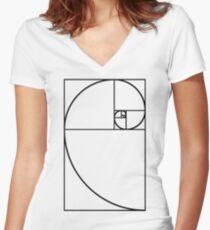 Golden Ratio - Transparent Women's Fitted V-Neck T-Shirt