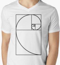 Golden Ratio - Transparent Men's V-Neck T-Shirt