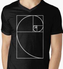 Golden Ratio - White  Men's V-Neck T-Shirt