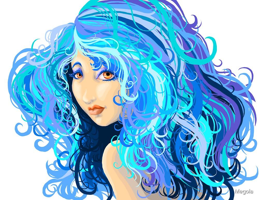 Blue Girl by Megola