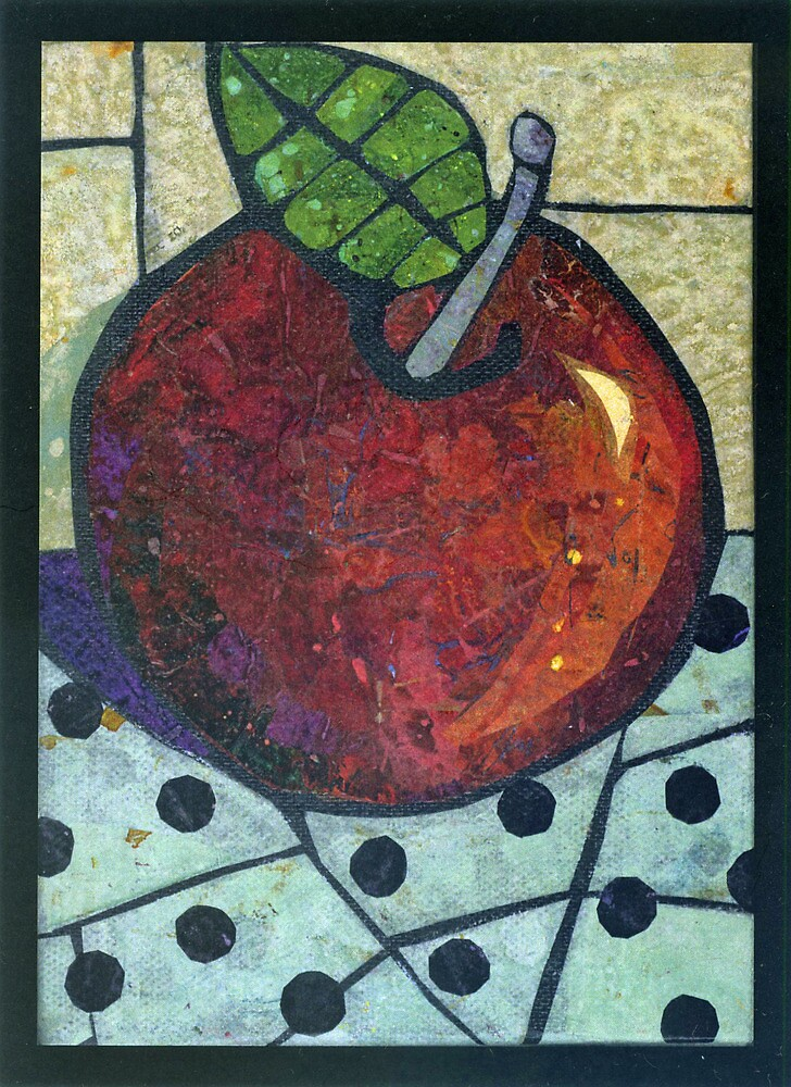 Apple with Dots by Barbara Nye