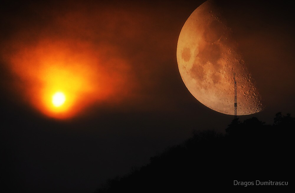 Red Moon by Dragos Dumitrascu