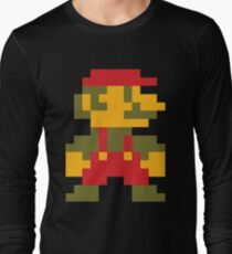 8 bit Mario V.2 Long Sleeve T-Shirt