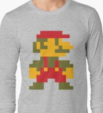8 bit Mario V.2 Long Sleeve T-Shirt