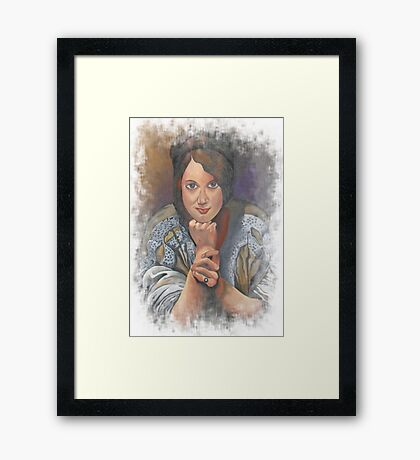 Missing You German Woman In Traditional Dress  Framed Print