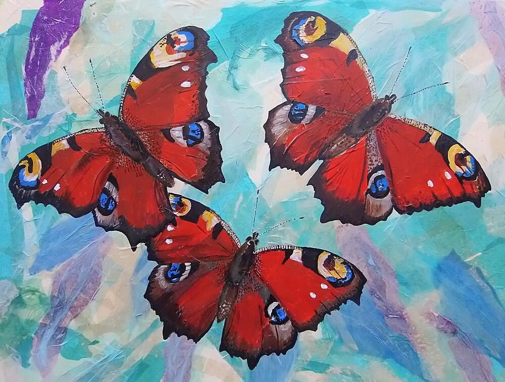 Peacock Butterflies by Sam Burchell