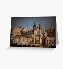 Churches of Valletta - Malta Greeting Card