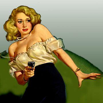 Chica clásica con pistola de sashakeen