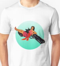 Swinging Sixties Girl on Gun Unisex T-Shirt