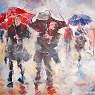 Pouring Rain - Umbrellas Art Gallery by Ballet Dance-Artist