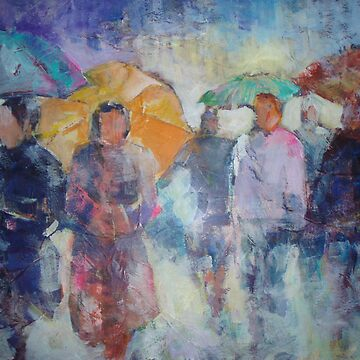 Busy Day In The Rain - Umbrellas Art Gallery by ballet-dance