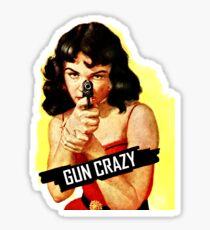 Gun Crazy Classic Sticker