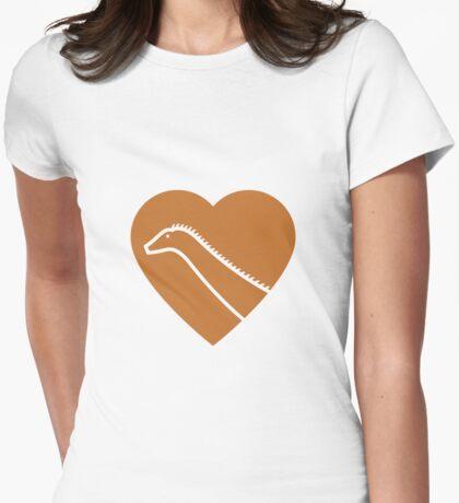 Dinosaur heart: Diplodocus (Orange on White) T-Shirt