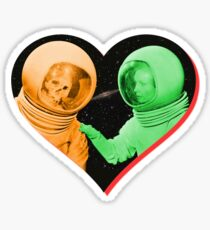 Love & Death Space Style Sticker