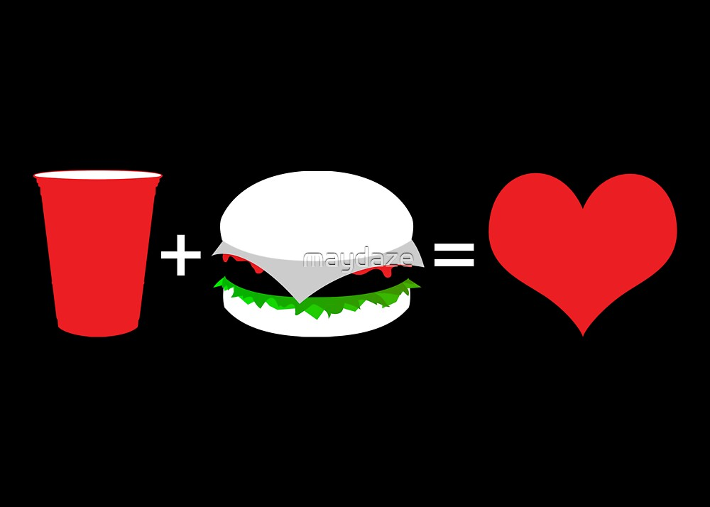 beer + hamburger = love by maydaze