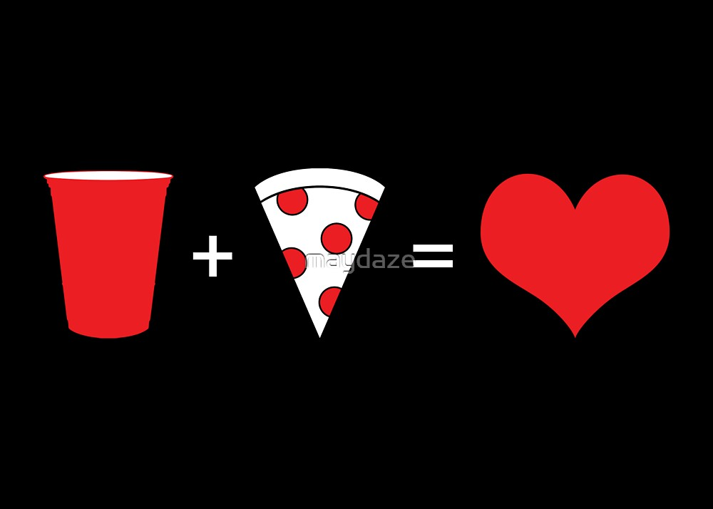 beer + pizza = love by maydaze