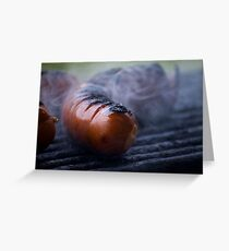 grilled sausages Greeting Card