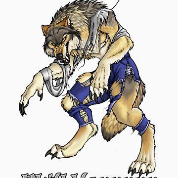 """Shift Happens"" Full Moon Werewolf by Goldenwolf"