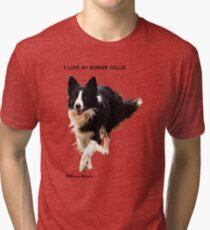 BORDER COLLIE TEESHIRT  -  ON REQUEST Tri-blend T-Shirt