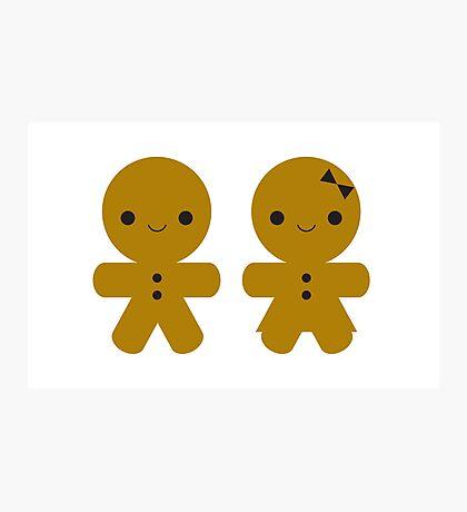 Gingerbread Boy & Girl Photographic Print