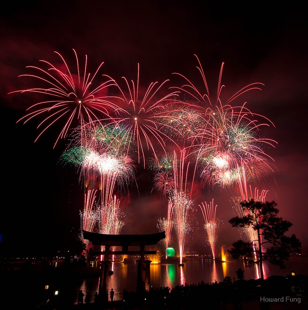 Fireworks over Japan by Howard Fung