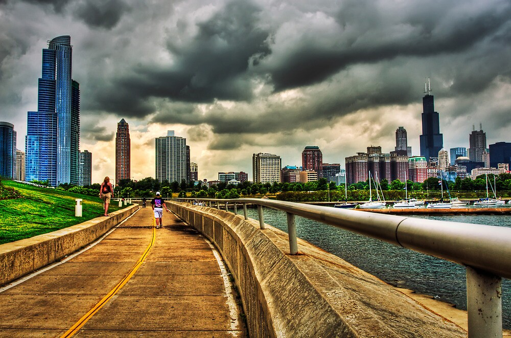 Brooding Clouds Over Chicago by jaymephoto