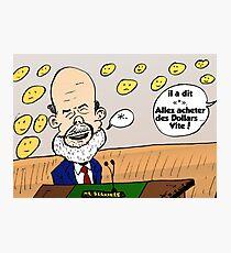 Ben Bernanke caricature Photographic Print