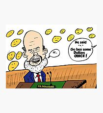 Ben Bernanke editorial cartoon Photographic Print