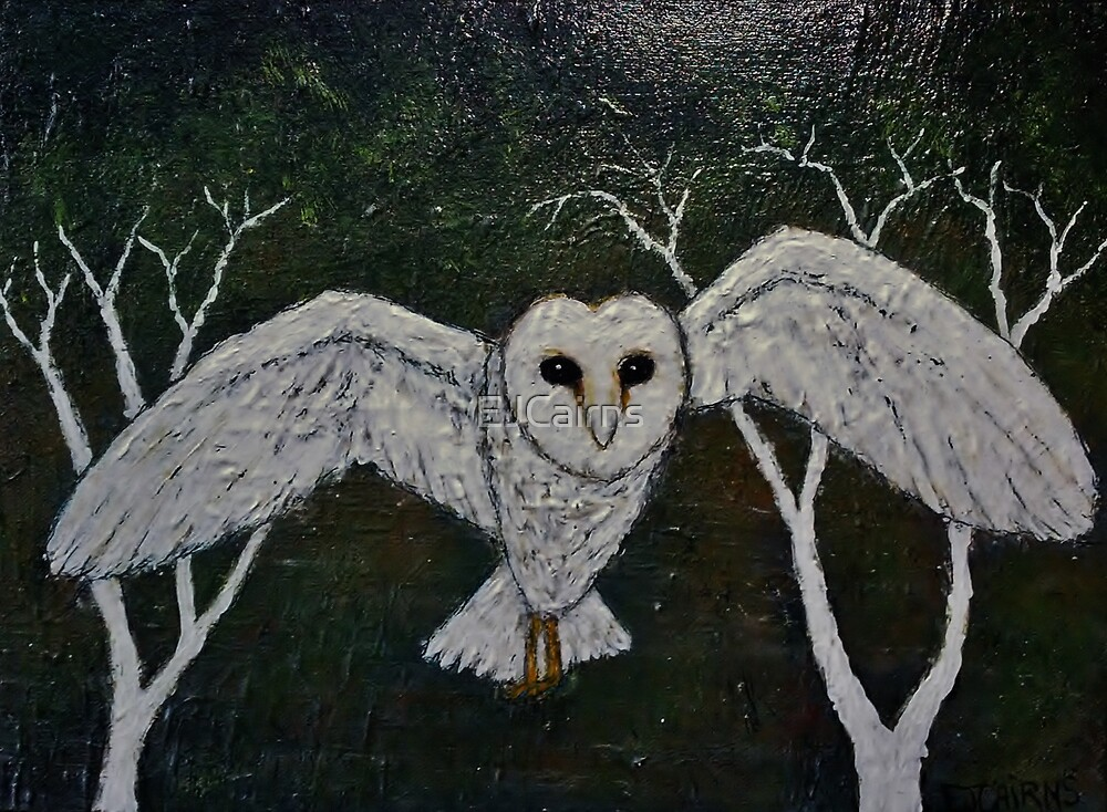 "Painting original ""Owl At Midnight""  by EJCairns"