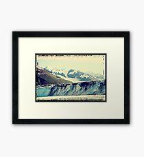 Analog Alaskan Glaciers Framed Print