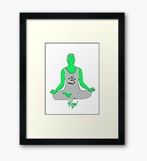 Yoga-Tshirt Framed Print