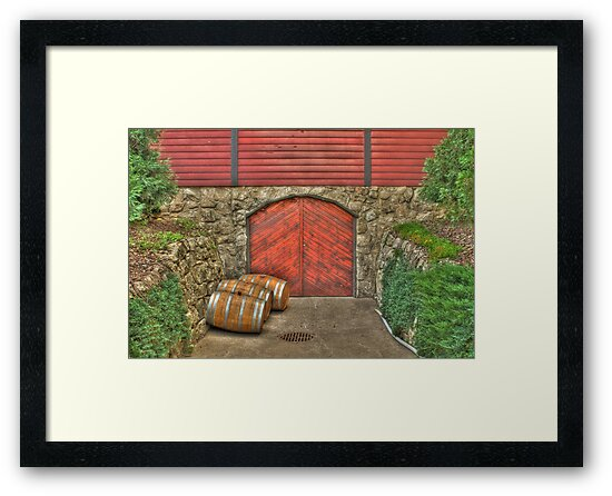 Wine at the Cellar Door by Jimmy Ostgard
