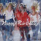 Happy Birthday Greeting Cards - Art - Girls - Friends by Ballet Dance-Artist