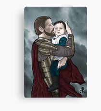 Odin and young Loki Canvas Print