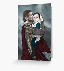 Odin and young Loki Greeting Card