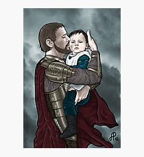 Odin and young Loki Photographic Print