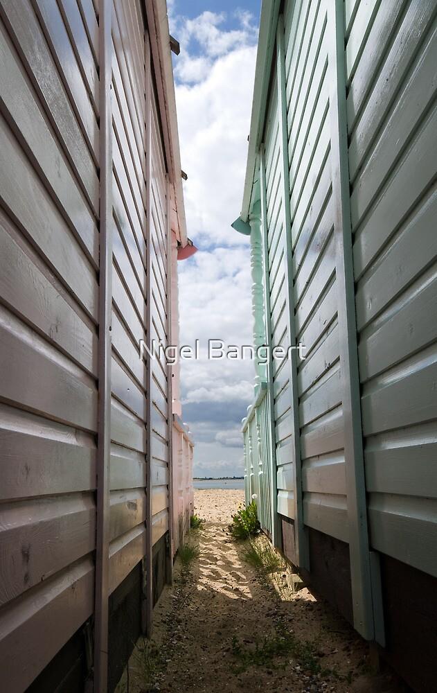 View Between the Beach Huts by Nigel Bangert
