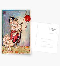 Lantern Pomeranian Postcards