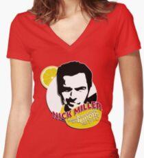 """""""Nick Miller, turning lemonade into lemons since 1981"""" Women's Fitted V-Neck T-Shirt"""