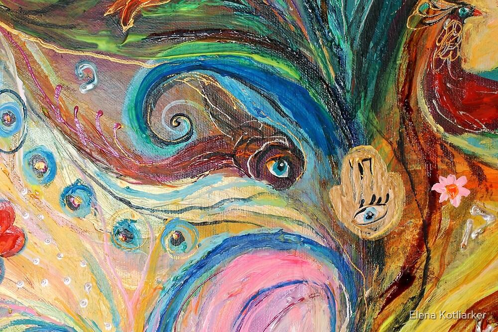 Original painting fragment 07 by Elena Kotliarker