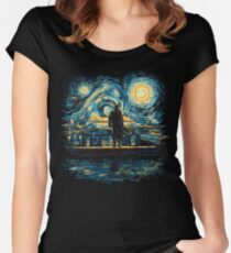 Starry Fall (Sherlock) Women's Fitted Scoop T-Shirt