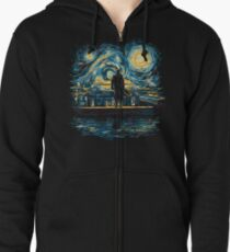 Starry Fall (Sherlock) Zipped Hoodie