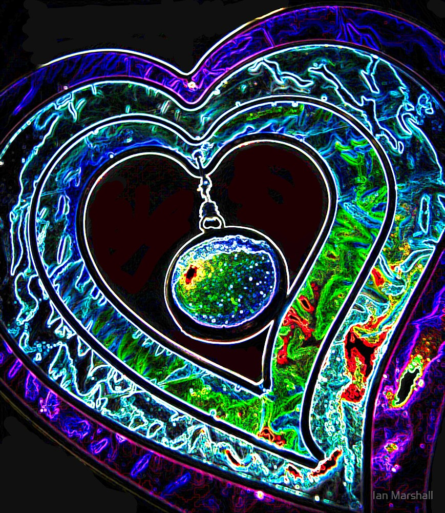 Psychedelic Heart  by Ian Marshall