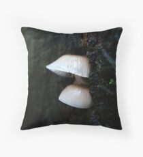 LITTLE CLOCHES ON THE BIG OAK STUMP Throw Pillow