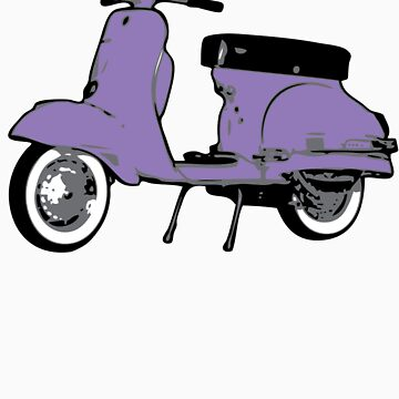 Purple Vespa Sprint by johnvikias