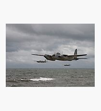 DH Mosquito - low level strike Photographic Print