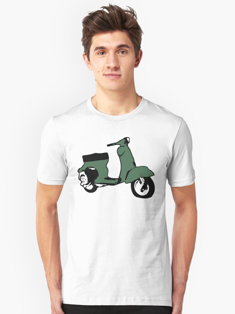Green Vespino Unisex T-Shirt Front