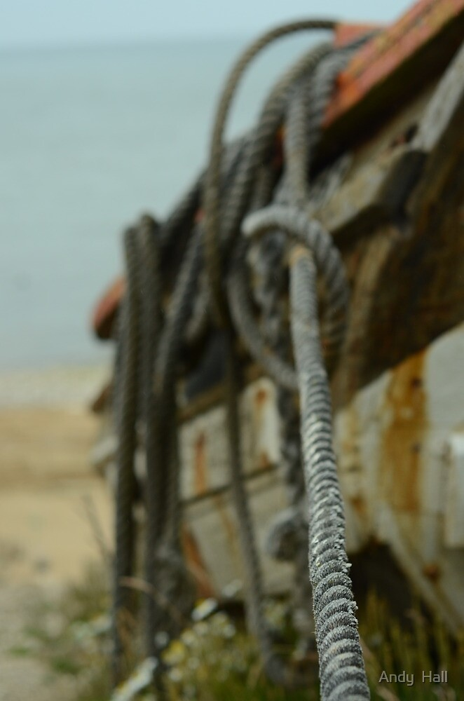 Boat rope by Andy  Hall