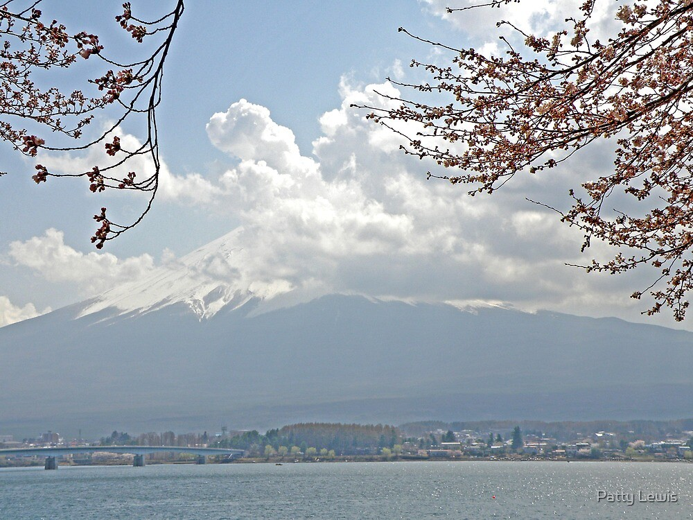 Mt Fuji in Clouds by Patty Lewis